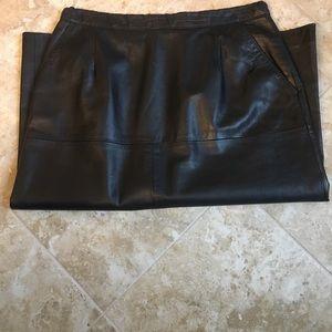 Dresses & Skirts - Authentic Vintage Black Leather Skirt, waist 27